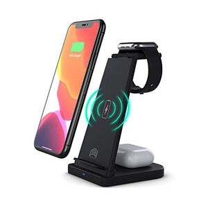 Caseme Wireless Charger, Qi-Certified 3 in 1 Wireless Charging Station/Stand for iPhone 12/11 /11Pro Max/XR/XS Max/Xs/X/8/8P, iWatch 6/5/4/3/2 AirPods for Sale in Nashville, TN