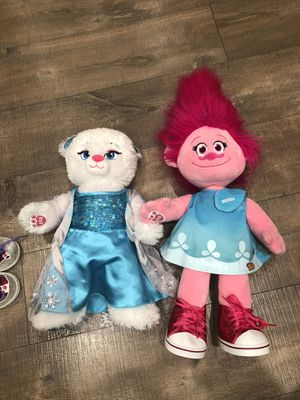 Build-A-Bear Poppy (Trolls) and Elsa Bear (Frozen) for Sale in Walnut Creek, CA