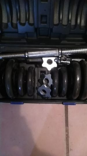 Semi Used detachable Dumbbell set for Sale in YSLETA SUR, TX