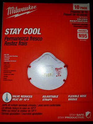 N95 Face Mask USA Milwaukee Respirator NIOSH N95 Virus Mascara Tapa Boca for Sale in Fresno, CA