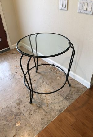 Glass & rod iron end table for Sale in Laguna Hills, CA
