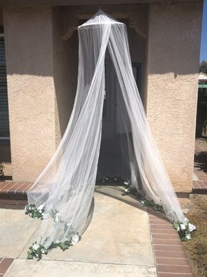 Sheer white canopy for Sale in Rancho Santa Margarita, CA