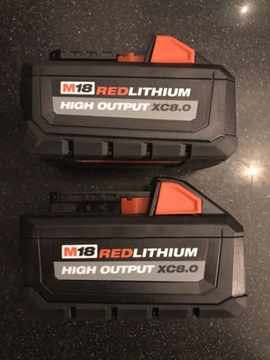 NEW Milwaukee 8.0 batteries (x2) for Sale in Clawson, MI