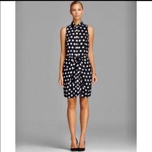 Michael kors black polka dot shirt dress size 12 for Sale in Olympia, WA