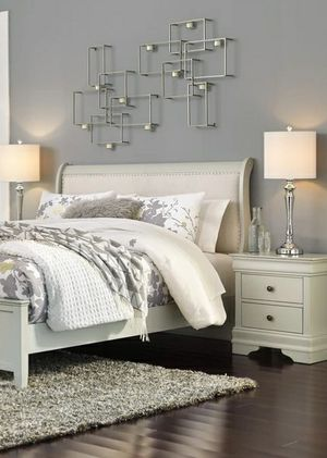 Special for Black Friday ‼ SALES Jorstad Gray Sleigh Bedroom Set | B378 268 for Sale in Jessup, MD