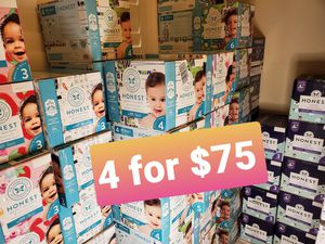 Honest diapers many sizes available mix and match for Sale in Santa Ana, CA