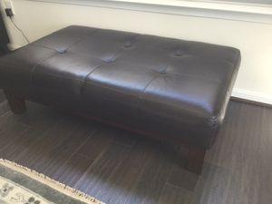 Leather ottoman for Sale in Smyrna, DE