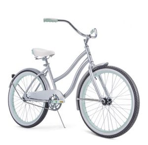 """Huffy 24"""" Cranbrook Girls' Cruiser Bike with Perfect Fit Frame, Silver for Sale in Hialeah, FL"""