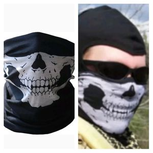 1 BRAND NEW Black/White Skull Face Covering Neck,Bandanna,Scarf,Head Band for Sale in San Antonio, TX