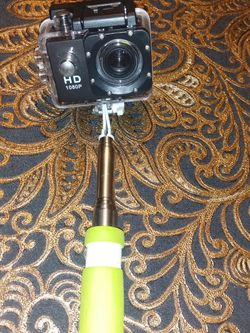 Gopro 1080p camera HD new with a 20 inch selfie stick. for Sale in Queens,  NY