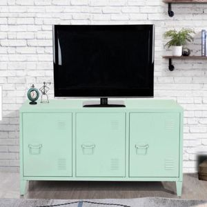 Matapouri 3-Doors Green Metal Accent Cabinet TV Stand With Storage DESCRIPTION: What a wonderful server. With 3-doors and 6-shelves inside, it is idea for Sale in Sugar Land, TX