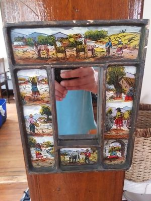 Vintage little native art mirror for Sale in Belleville, NJ