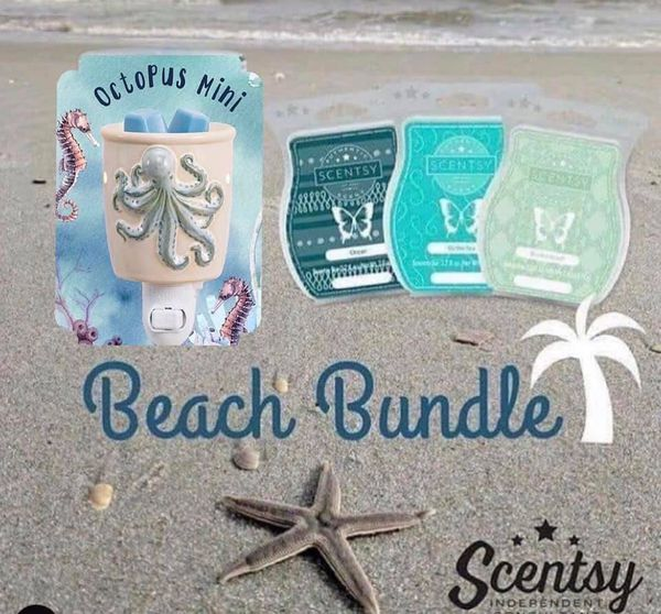 Mini beach scentsy warmer + wax bars