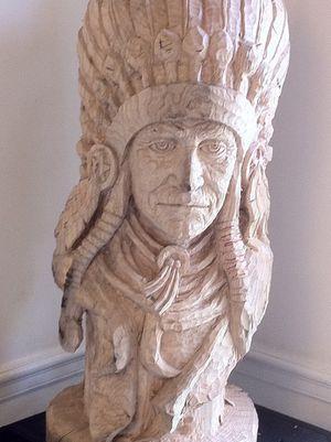 Indian head wood sculpture for Sale in Fort Belvoir, VA