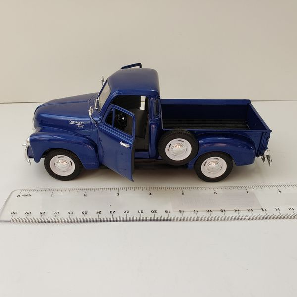 New Large 1953 Blue Chevy Pickup Truck Car Toy Diecast