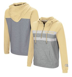 Georgia Tech Yellow Jackets Colosseum Women's Play the Game Quarter-Zip Pullover Hoodie – Gold/Gray for Sale in Nether Providence Township, PA