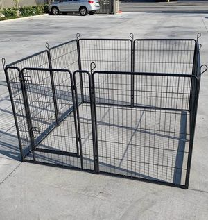 Brand new 40 inch tall x 32 inches wide each panel x 8 panels heavy duty exercise playpen expandable fence barrier with ground stakes safety gate dog for Sale in Los Angeles, CA
