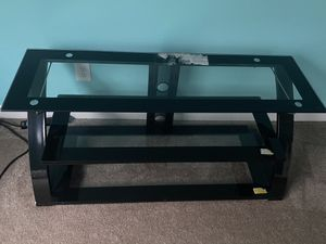 """Glass shelf tv stand holds up to 55"""" tv for Sale in Duncan, SC"""
