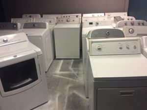 All whirlpool products, Cabrio's Maytag bravos sets, whirlpool sets with agitators and leave it out! Average price between $380 a set and $600 a set! for Sale in St. Louis, MO