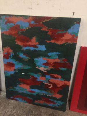 Art : abstract / canvas 36x48 - no tears for Sale in Dallas, TX