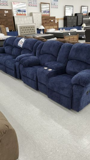 Kelly navy reclining sofa & loveseat for Sale in Columbia, MO