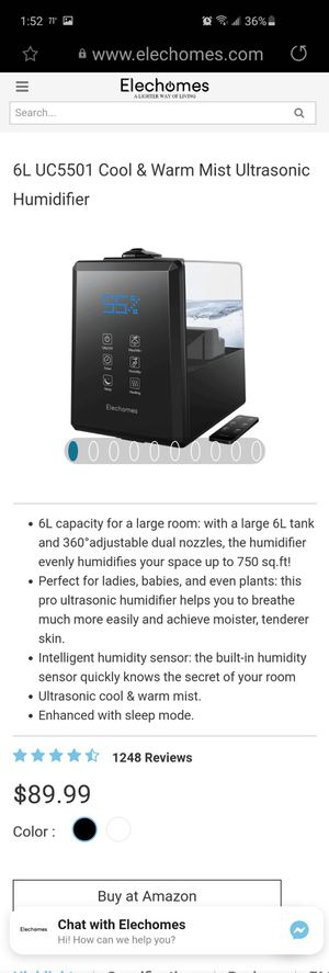 Air warmer humidifier for Sale in Fort Worth, TX