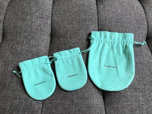 Authentic Tiffany & Co. Drawstring Pouches (Set of 3) for Sale in Pittsburgh, PA