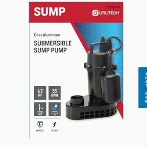 Utilitech0.5-HP Aluminum Submersible Sump Pump Model #148011 for Sale in Harlingen, TX