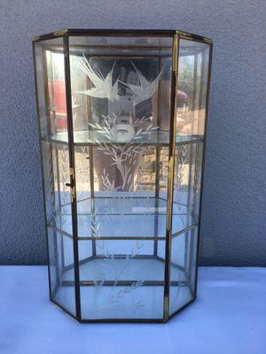 Vintage glass shelf curio cabinet for Sale in Scottsdale, AZ