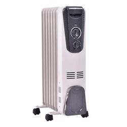 1500-Watt Electric Oil Filled Radiator Space Heater 5.7 Fin Thermostat Room Radiant for Sale in Rosemead,  CA