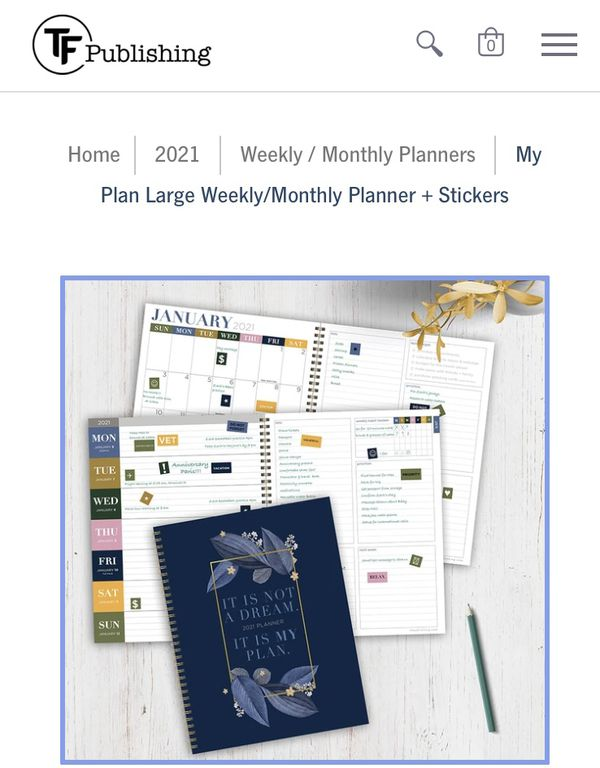 TF publishing 2021 Planner + Stickers