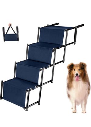 Car Dog Stairs, Nonslip Foldable Metal Fram Pet Steps for Medium and Large Dogs, Lightweight Portable Dog Ramp with Waterproof Surface, Great for Hig for Sale in Garden Grove, CA