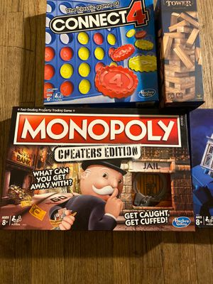 Monopoly editions / Connect 4 / Jenga complete for Sale in East Los Angeles, CA