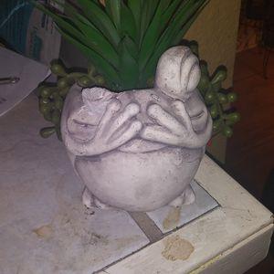 Concrete Frog Succulent Decor for Sale in Alexandria, LA