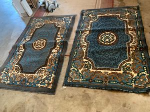 Turkish Carpet Original Bahariye Textile Company Carpet Blue Design for Sale in Federal Way, WA