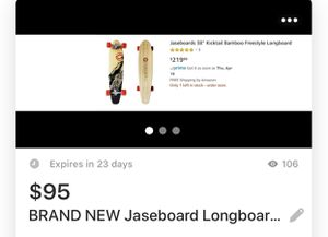 Brand new Jase board longboard wheels never touch the for Sale in Fountain Valley, CA