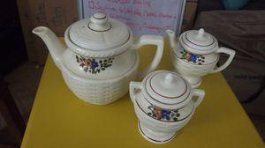 Ceramic Teapot with cream and sugar pots for Sale in New Castle, DE
