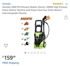 Homdox High Pressure Washer 3000PSI for Sale in Redlands, CA