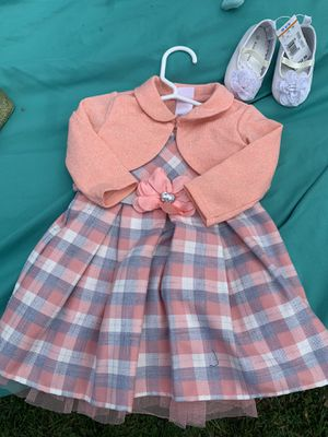 Baby girls party outfit with shoes for Sale in Yonkers, NY