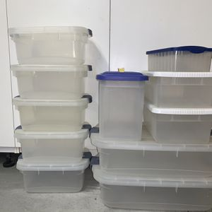 Lot Of 11 Plastic Storage Containers - Various Sizes for Sale in Orange, CA