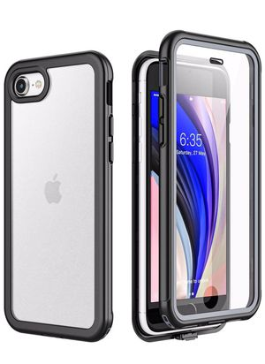 iPhone SE 2020 Case iPhone 7/8 Case,Matte Clear Full Body Built in Screen Protector Multi-Directional Bumper Heavy Duty Rugged Dropproof Cases for iP for Sale in Brooklyn, NY