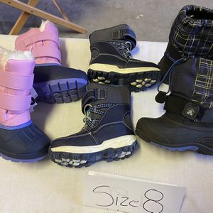Snow Boots Size 8t $20 Each for Sale in Surprise, AZ