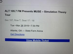 MUSE Concert Tickets for Sale in Lynchburg, VA
