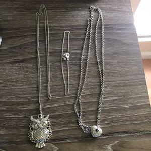 Owl Pendant, Heart Pendant chain bracelet for Sale in Sun City West, AZ