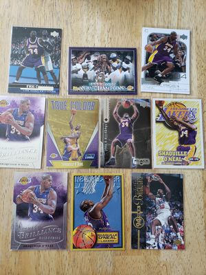 Shaquille O'neal Los Angeles Lakers NBA basketball cards for Sale in Gresham, OR