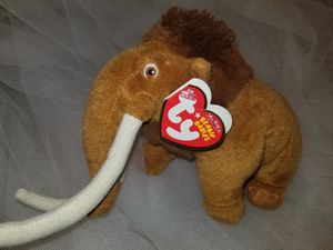 Rare Ty Ice Age Manny Beanie Baby for Sale in North Highlands, CA