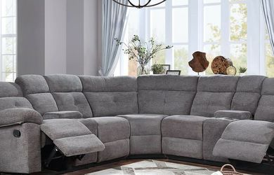 Fandango Grey Reclining Sectional Sofa for Sale in Fort Worth,  TX
