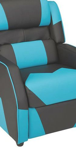 Amazon Basics 3, Black and Blue Kids Sofa Recliner for Sale in Phoenix,  AZ