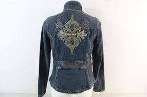 Harley Davidson-Denim Embroidered & Bling Jacket -size small/medium for Sale in Orange City, FL