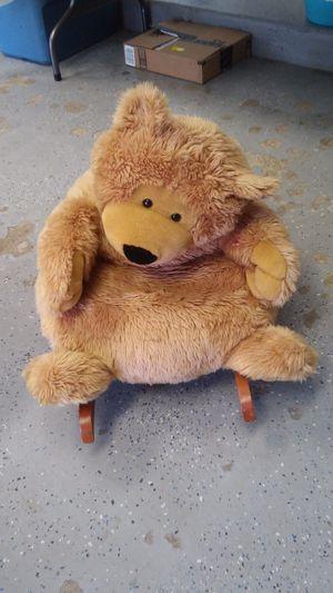 Stuffed bear rocking chair for Sale in Fraser, MI